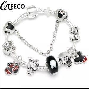 Jewelry - Brand New 21cm Mickey Minnie Charm Bracelet